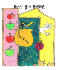 rosh hashanah card honey